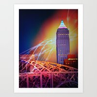 Moonbeams Over The Bridge Art Print