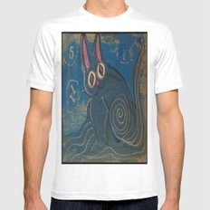 Wave Kitty White SMALL Mens Fitted Tee