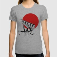 Barna Love Red Sun Womens Fitted Tee Athletic Grey SMALL