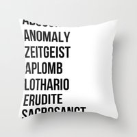 Zachary Quinto and Chris Pine want to enrich YOUR vocabulary. Throw Pillow