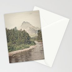 Retro Mountain River Stationery Cards