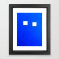 Minimalism Electric Blue Framed Art Print