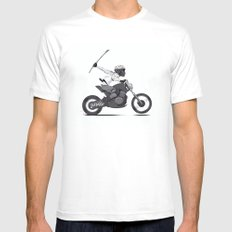 Guerilla Biker Mens Fitted Tee SMALL White