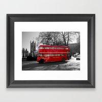 Red Routemaster bus Framed Art Print