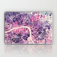 London Mosaic Map #2 Laptop & iPad Skin