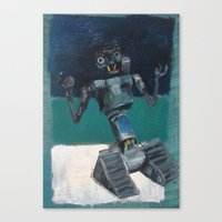 Johnny5 and Rothko Canvas Print