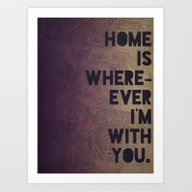 Art Print featuring With You by Leah Flores