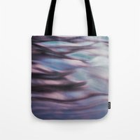 Pink And Blue Waves Tote Bag