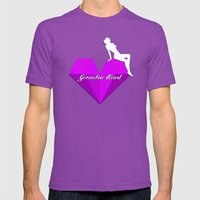 GEOMETRIC HEART® - Purp… Mens Fitted Tee Ultraviolet SMALL