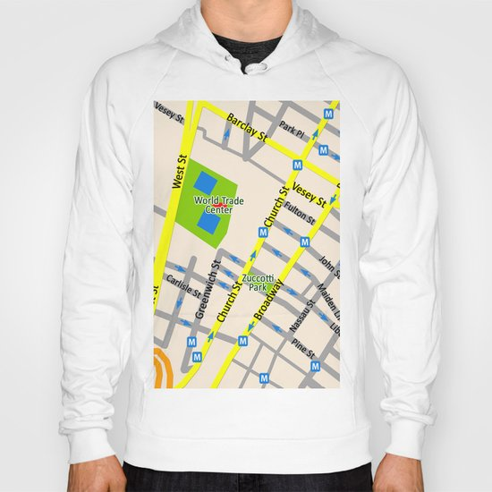 NEW YORK map design Hoody