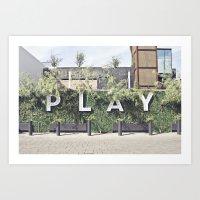 P L A Y  Art Print