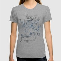 Kraken Womens Fitted Tee Tri-Grey SMALL