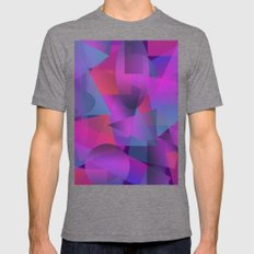 Abstract cube Mens Fitted Tee Tri-Grey SMALL