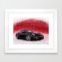 Porsche 911 Turbo Framed Art Print
