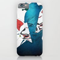 iPhone Cases featuring Fox Mask by SEVENTRAPS