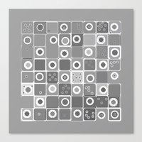 Black Dot Design Canvas Print