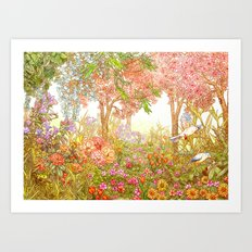 Heaven Garden Art Print