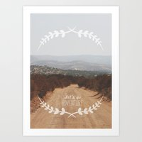 Let's Go Adventure Art Print