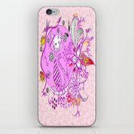 Pen And Ink Colorful Cat… iPhone & iPod Skin