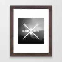 Heaven On Earth (B&W) Framed Art Print