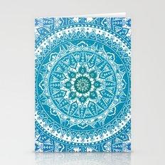 Aquamarine Mandala Pattern Stationery Cards