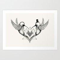 'Humming Birds' Art Print
