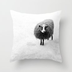 cute sheep Throw Pillow