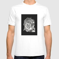 Tongue Head Mens Fitted Tee White SMALL