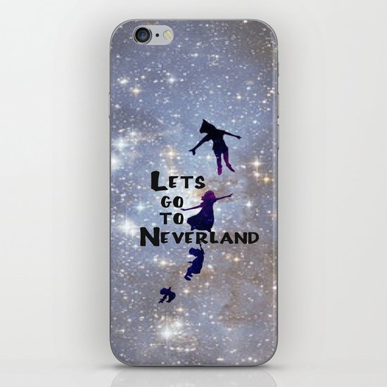 Lets Go To Neverland iPhone & iPod Skin