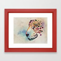 Fractal Jaguar Framed Art Print