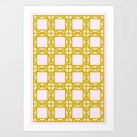 DG GEOMETRIC – MUSTARD PINK Art Print