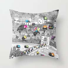 Locals Only - Heidelberg, Germany Throw Pillow