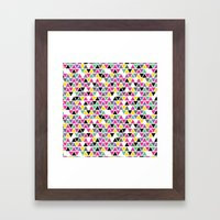 Pop Triangles Framed Art Print