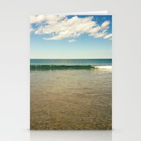 clear ocean water Stationery Cards