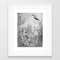 The underwater world Framed Art Print