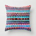 PATTERN {Tribal Stripe- Aqua} Throw Pillow