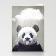 Panda Rain Stationery Cards