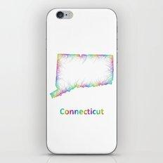 Rainbow Connecticut map iPhone & iPod Skin
