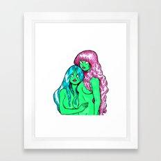 Little Greenies Framed Art Print