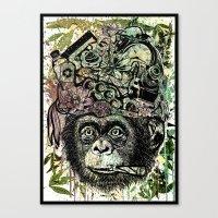 Ape's Prank Canvas Print