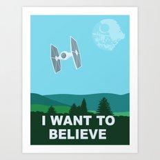 I WANT TO BELIEVE - Star Wars Art Print