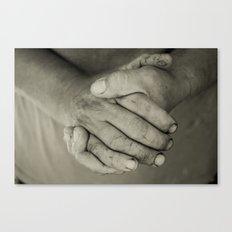 manos trabajadoras Canvas Print