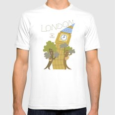 LONDON LOVES TREES SMALL White Mens Fitted Tee