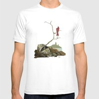 CARDINAL LOOMS Mens Fitted Tee White SMALL