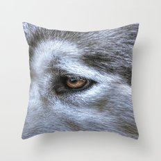 Eye of the dog Throw Pillow