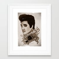 The King of Rock 'n' Roll (Elvis Presley) Framed Art Print