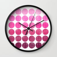Color Play Pink Wall Clock