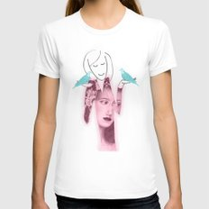 Balance Womens Fitted Tee White SMALL