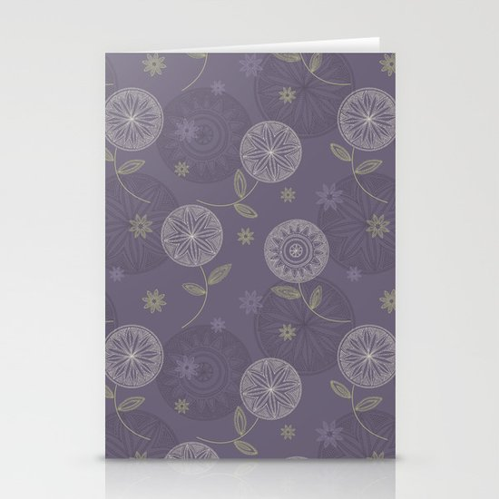 Folky Lace Flowers Stationery Card