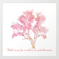 Pink Spring Blossoms Art Print